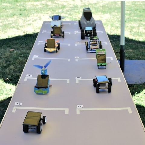 Solar-powered cars created by CLIP students won competition